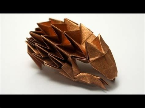 origami hedgehog tutorial origami hedgehog paulius mielinis youtube