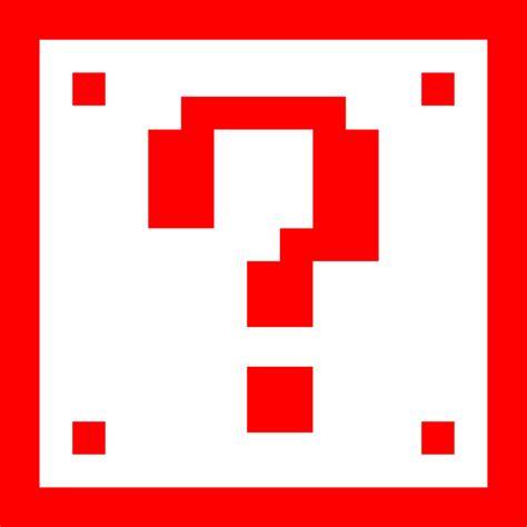 super mario question mark box printable question mark box clipart best