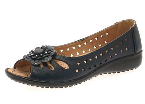 flat shoes for out womens faux leather comfort cut out flat shoes flower