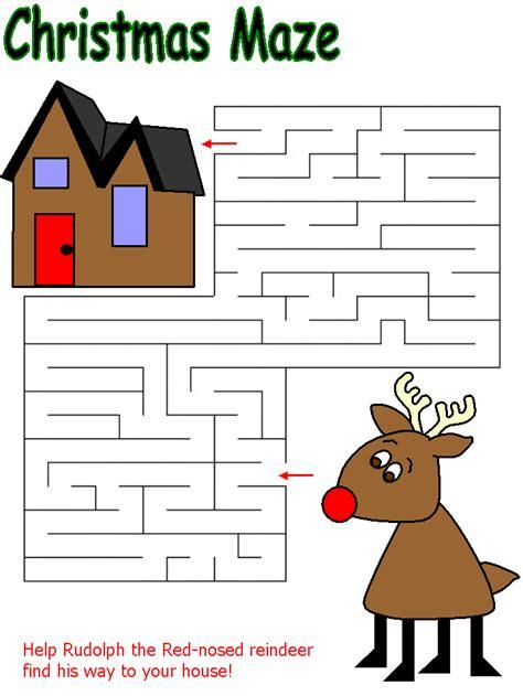 free printable christmas maze games christmas maze new calendar template site