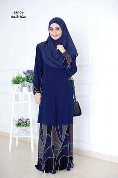Baju Qonita Gholib model kebaya modern untuk wanita kurus baju kurung