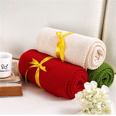 Decke 100 Baumwolle by Get Cheap Baumwolle Gestrickten Decke Aliexpress
