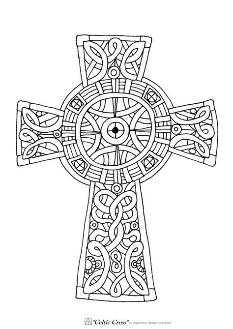 Celtic Cross Coloring Page celtic cross coloring page coloring home