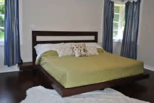 Diy Platform Bed Frame 25 Simple Cut Out Headboard And 25 Floating Platform King Bed Repost White Woodworking