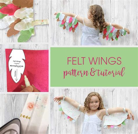 felt wings pattern felt wings pattern and tutorial easy and so fun to make