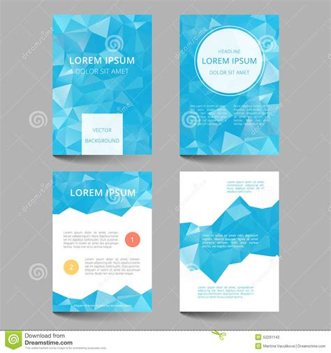 document layout design templates document template low poly design stock vector image