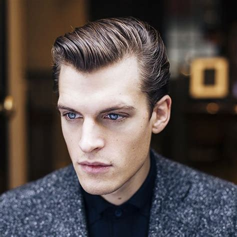 slick back with receding hairline 30 best men hairstyles for thinning hair