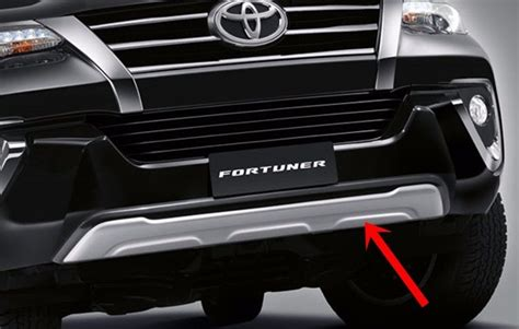 Fortuner Ad2039b Black List White genuine parts front bumper guard accessories for toyota