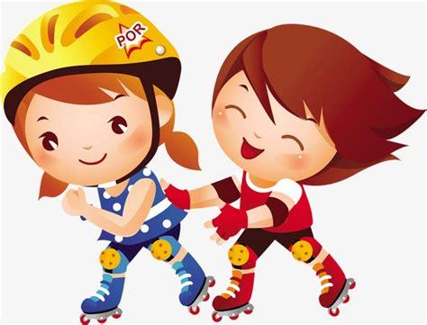 imagenes niños patinando los ni 241 os de dibujos animados de patinaje cartoon ni 241 o