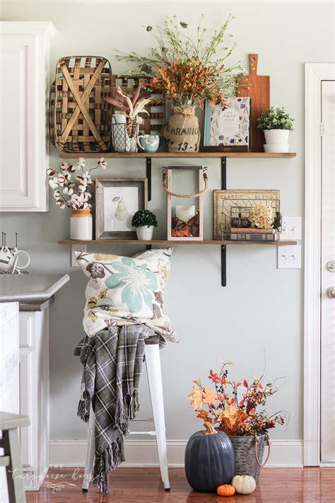 how to decorate kitchen shelves fall farmhouse kitchen shelves how to decorate simply