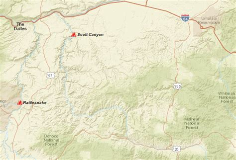 map of oregon forest fires update firefighters make inroads my columbia basin