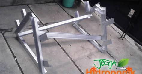 Rak Hidroponik jasa pembuatan pipa dan rak hidroponik baja ringan jogja