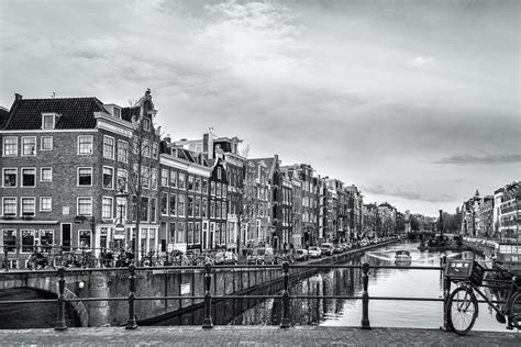 Amsterdam Noir Et Blanc by Amsterdam Version Carte Postale Anything Is Possible