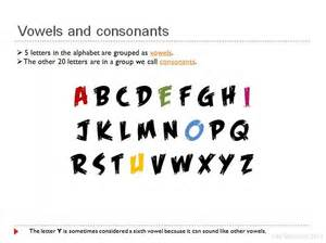 what letters are consonants levelings