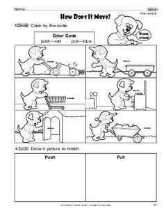 Push And Pull Worksheets For Kindergarten by Understand Living Things Animals Printable Worksheets