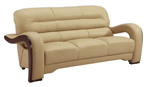Genuine Leather Sectional Sofa Alpha Beige Genuine Leather Sofa