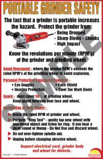 Bench Grinder Safety Poster Osha Compliance
