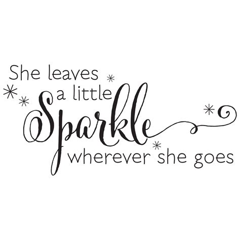 Kate Spade Bedroom She Leaves A Sparkle Wall Quotes Decal Wallquotes Com