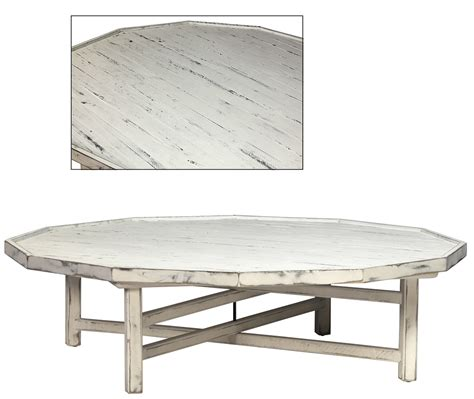 cottage style coffee tables white cottage style coffee table decagon shape