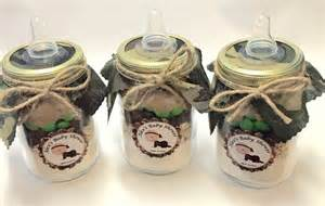 Mason Jar Favors Camouflage Baby Shower Ideas Baby Ideas