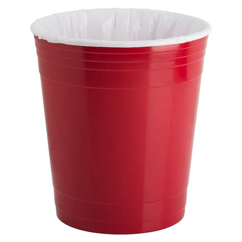 waste basket red party cup waste basket the green head