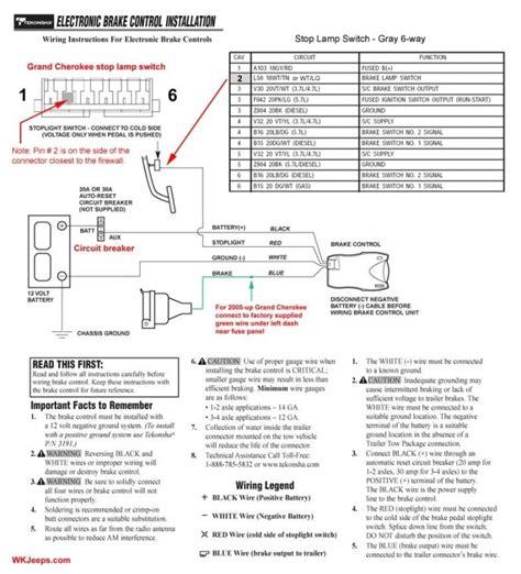 tekonsha wiring diagram tekonsha voyager installation