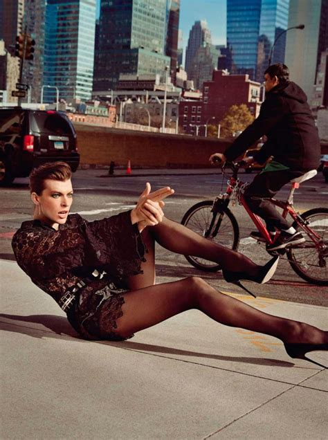 milla jovovich catwalk milla jovovich shooting vogue paris pictorial stylefrizz