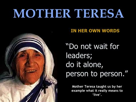 Mother Teresa Biography Book Pdf | the success of love is in the loving it is not i by