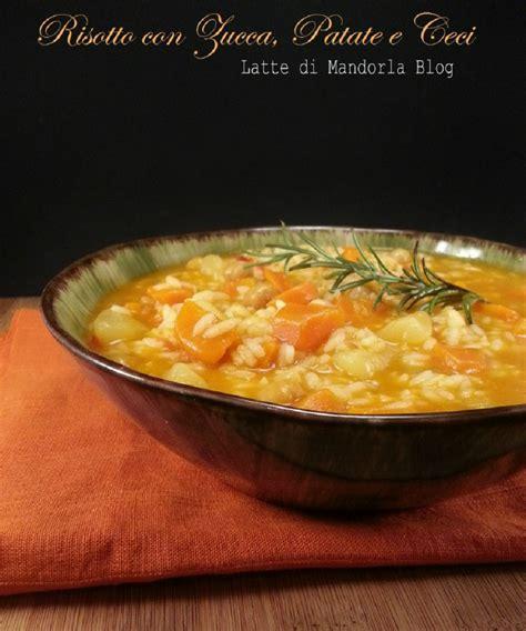 intolleranza al lattosio alimenti consentiti risotto minestra con zucca ceci e patate latte di mandorla