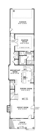 Narrow Home Plans by 25 Best Ideas About Shotgun House On Pinterest Small