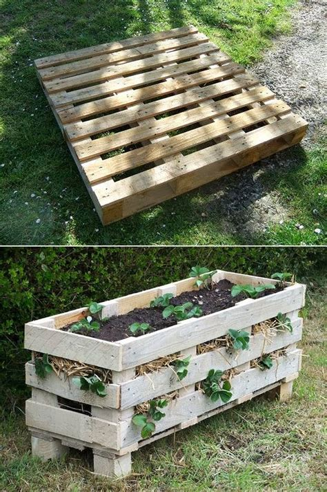 How To Make A Strawberry Planter Out Of A Pallet by Pallet Into A Vertical Strawberry Planter House Interior