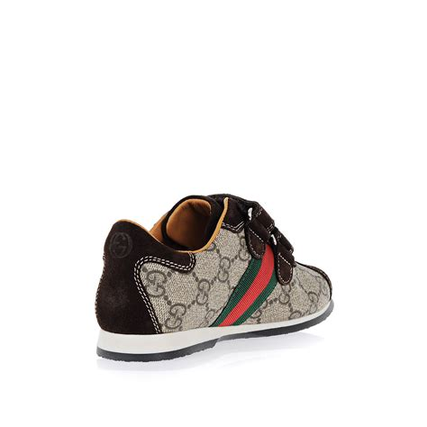 kid gucci shoes gucci boy leather sneakers spence outlet