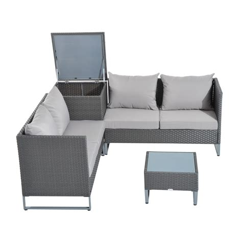 Outsunny 4 Piece Modern Sectional Patio Furniture