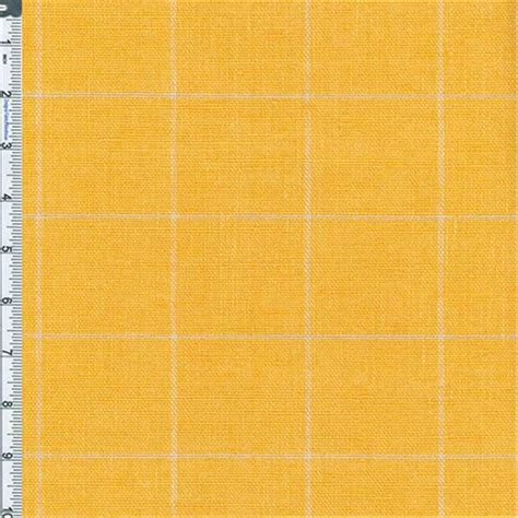 plaid home decor fabric golden yellow windowpane plaid home decor linen fabric