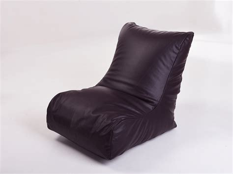 leather look gaming chair bean bag in aubergine