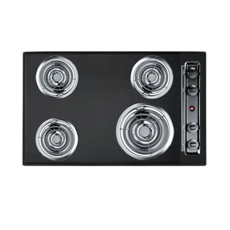 summit cooktop summit appliance 30 in coil electric cooktop in black