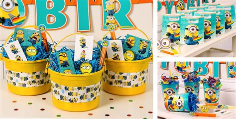 City Minion Decorations by Despicable Me Favors Stickers Temporary Tattoos