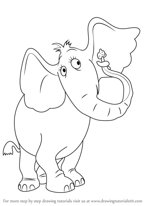 sour kangaroo coloring page learn how to draw horton the elephant from horton hears a