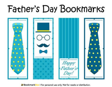 printable bookmarks pdf free printable father s day bookmarks download the pdf