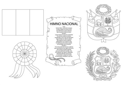 simbolos patrios colouring pages coloring pages los simbolos patrios del peru