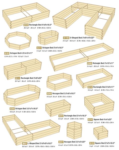 Raised Bed Vegetable Garden Layout Different Garden Beds Gardening Pinterest