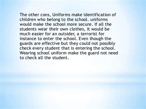 Should Students Wear Uniforms In School Essay by School Uniforms Should Be Abolished