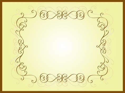 Brown Frame Backgrounds Border Frames Brown White Border Templates For Powerpoint 2