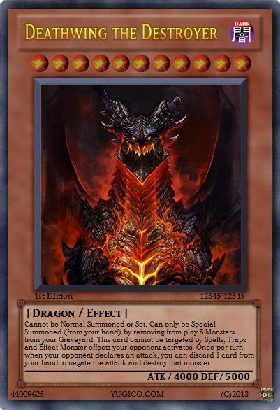 how to make a custom yugioh card custom yugioh deathwing by meowmeowmeow21 on deviantart