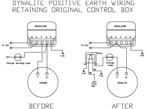 lucas c39 40 dynalite positive earth