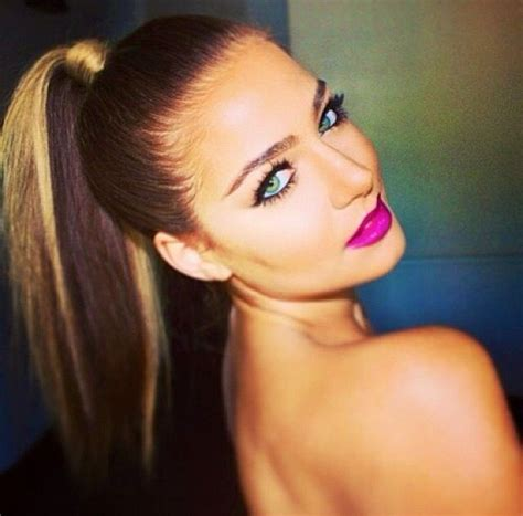pony tail with fringes back the slicked back ponytail is back hairdos pinterest
