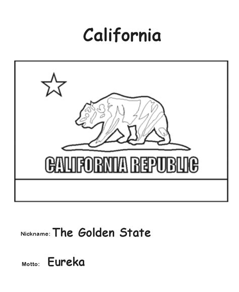 usa printables california state flag state of