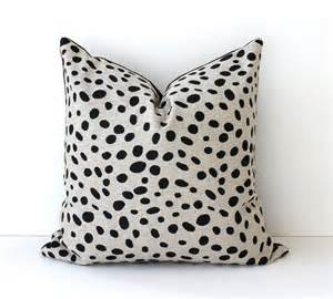 Designer Accent Pillows Spotted Black Decorative Designer Pillow Cover 18