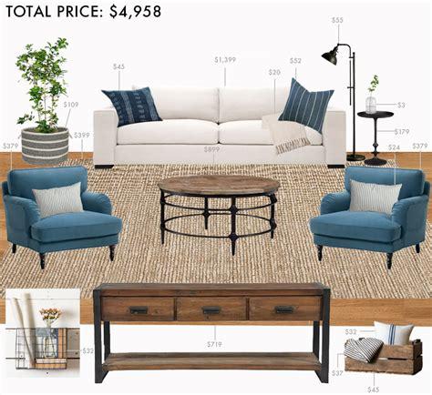 budget living room modern farmhouse emily henderson