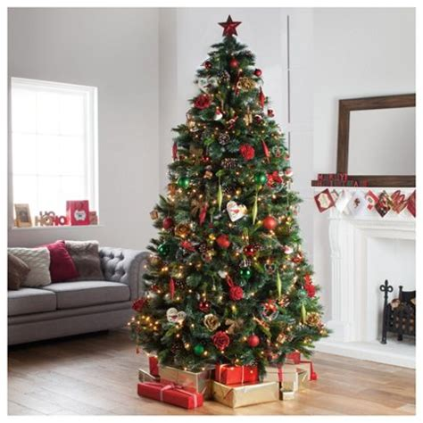 christmas tree stand tesco buy festive 8ft glisten pine tree from our trees range tesco